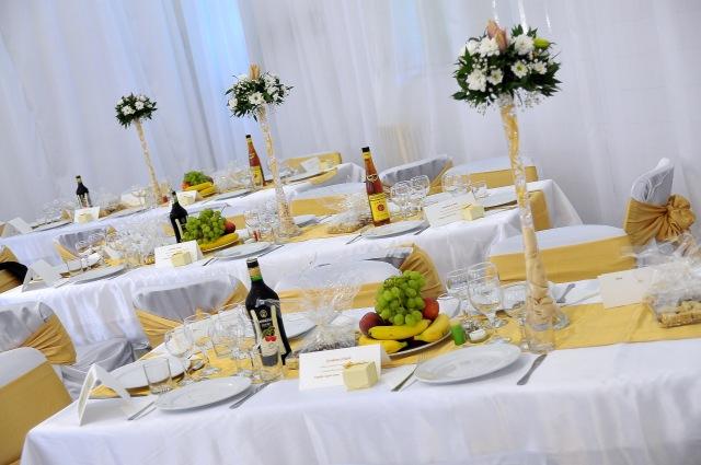 Aranjament cu stil la nunta