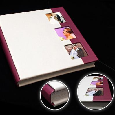Model E.Album 30x30cm, imitatie piele in 2 culori + fotografii